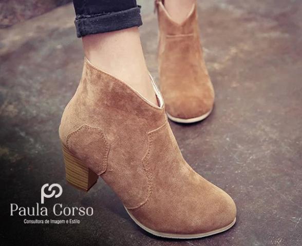 cb6c3d895 Tags: Sulfite, Assessoria de Imprensa, Paula Corso, bota cano curto,  calçados, femininos